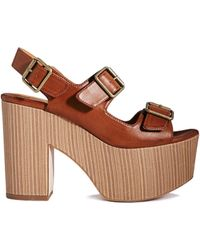 Asos Hinton Heeled Sandals - Lyst