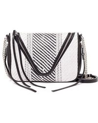 She + Lo 'Make Your Mark' Woven Leather Crossbody Bag - White