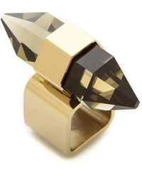 By Malene Birger The Wild Thing Triangle Ring  Gold - Lyst