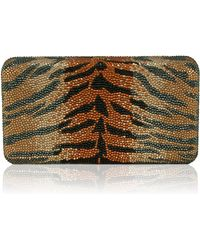 Judith Leiber Couture Large Airstream Tiger Stripe Evening Clutch Bag - Lyst