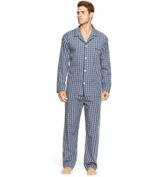 Polo Ralph Lauren Plaid Cotton Pajama Shirt - Blue