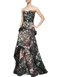 J. Mendel Strapless Bustier Mermaid Gown - Lyst