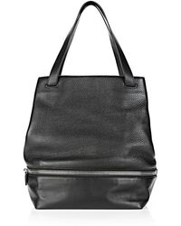 Alexander Wang Explorer Open Tote In Soft Pebbled Black With Rhodium Hardware