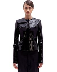 Paco Rabanne Womens Patent Leather Jacket - Lyst
