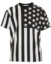 Givenchy Baby's Breath Flag T-Shirt black - Lyst