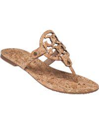 Tory Burch | Miller 2 Cork Sandals | Lyst