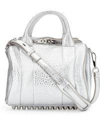 Alexander Wang Rockie Small Crossbody Satchel Bag Silver - Lyst