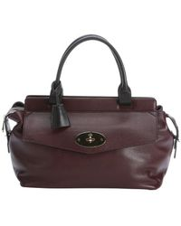 Mulberry Oxblood Leather Blenheim Top Handle Bag - Lyst
