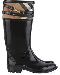 Burberry Elderford House Check Rain Boots - Lyst