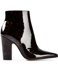 Maison Margiela Tortoiseshell Ankle Boots - Lyst