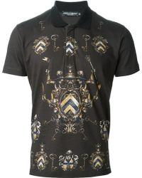 Dolce & Gabbana Heraldry Polo Shirt - Lyst