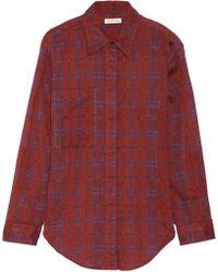 Etoile Isabel Marant Viane Plaid Cotton-Gauze Shirt - Lyst