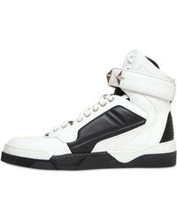 Givenchy - Tyson Stars Leather High Top Trainers - Lyst