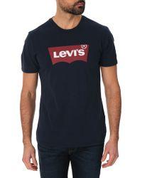 Levi's Og Logo Blue Tee-Shirt - Lyst