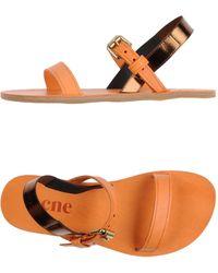 Acne Studios Sandals orange - Lyst