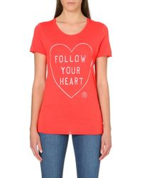 Zoe Karssen Follow Your Heart Jersey T-shirt - Lyst