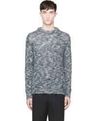 Diesel Dark Grey Mlange Knit K_nadeen Sweater - Lyst