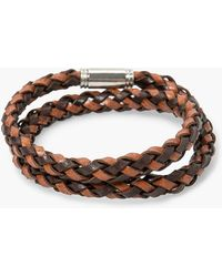 Mango | Recycled Leather Double Bracelet | Lyst
