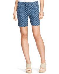 Ralph Lauren Lauren Shibori Print Drawstring Shorts - Lyst