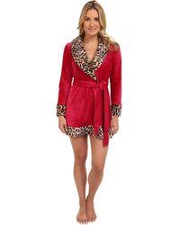 Betsey Johnson Ls Luxe Velour Robe - Lyst