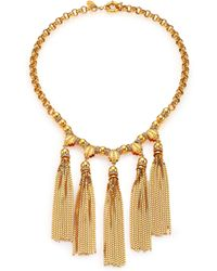 House Of Lavande Sunset Crystal Tiered Tassel Necklace - Lyst