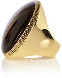 Karen Millen Round Stone Statement Ring - Metallic