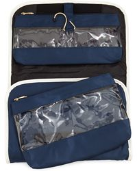Neiman Marcus Fold-out Valet Travel Bag - Blue