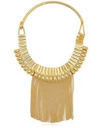 House Of Lavande Fringe Collar gold - Lyst