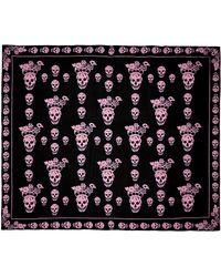 Alexander McQueen Geisha Skull Silk Chiffon Scarf - Lyst