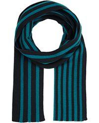 Armand Diradourian   Men's Striped Rib-knit Scarf   Lyst