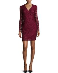 Laundry by Shelli Segal Long-Sleeved Fitted Lace Dress - Lyst