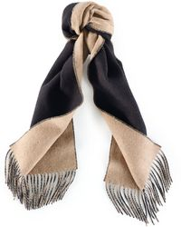 Ralph Lauren Double-faced Solid Scarf - Lyst