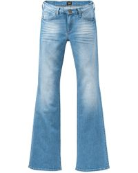 Lee Jeans Annetta Slim Fit Flared Jeans - Blue