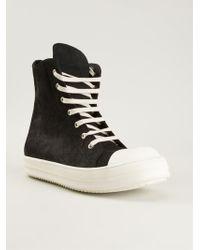 Rick Owens Ramones Hitop Sneakers - Lyst