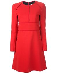 Chloé Red Shift Dress - Lyst