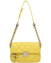Metrocity Quilted Leather Shoulder Bag - Yellow