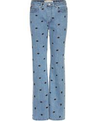 Être Cécile Embroidered Jeans - Blue