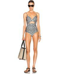 Zimmermann Gemma Wire Swimsuit - Lyst
