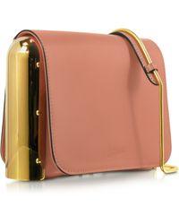 Jean Paul Gaultier Powder Pink Leather Shoulder Bag W/Metal Detail