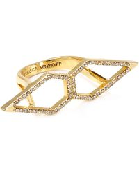 Rebecca Minkoff - Double Open Blade Ring - Lyst