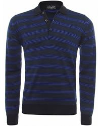 John Smedley Gaspor Striped Polo Shirt - Lyst