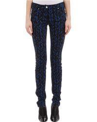 Balenciaga Negative Knit Skinny Jeans - Lyst