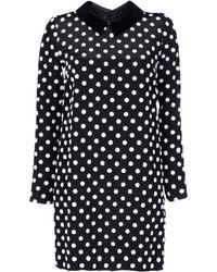 Victoria, Victoria Beckham Silk Polka Dot Shift Dress - Lyst