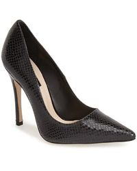 Topshop Women'S 'Gallop' Patent Pointy Toe Pump - Lyst