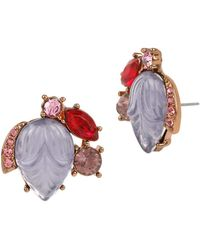 Betsey Johnson - Fall Follies Stone Cluster Earrings - Lyst