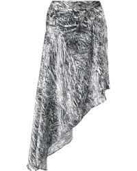 McQ by Alexander McQueen Fanzine Foil Print Asymmetric Skirt - Lyst
