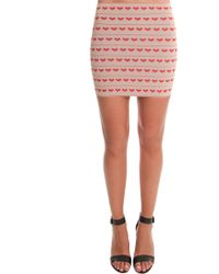 Pleasure Doing Business | Hear Bandeed Mini Skirt | Lyst