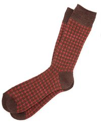 Anonymous Ism - Houndstooth Socks - Lyst
