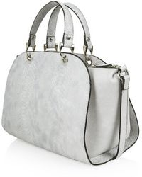 Topshop Gray Snake-Effect Holdall - Lyst