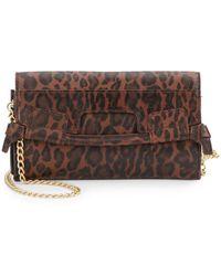 Foley + Corinna Leopard-Print Chain Wallet Bag - Lyst